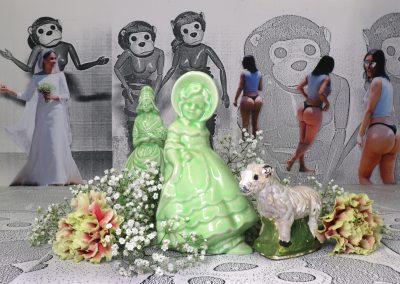 Gabrielle de Montmollin, Still Life with Shepherdess Figurines, 2019