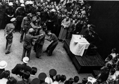 Communist activists tried by a nationalist military judge, from Shanghai 1949: The End of an Era, 1949