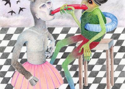 Rabbit Boy with birds, from the series Carnival of Tongues, Tails and other Protrusions, 2016