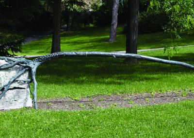 Reinhard Reitzenstein, River Tree/Bench, 2002