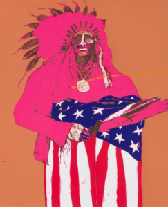 Last Indian with American Flag, 1976