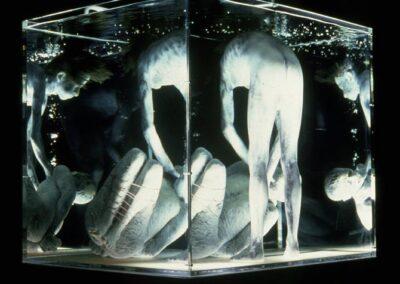 "Aquarium, 1975 (mixed media, polyester resin, fiberglass, with bubble motion, 48"" X 42"" X 78"")"