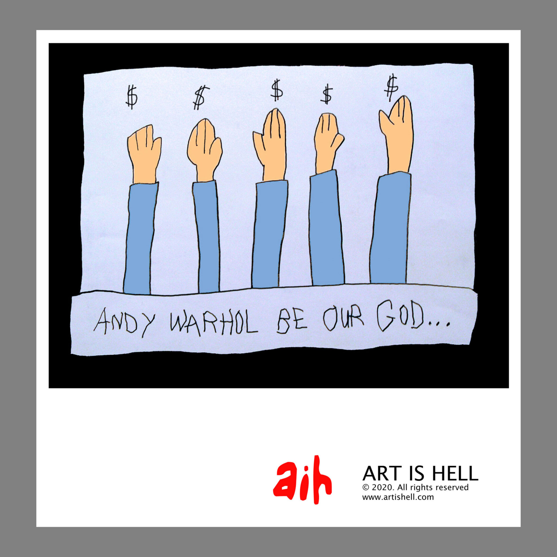 Andy Warhol Be Our God…. 24 x 20 inch poster. CA$ 30.00