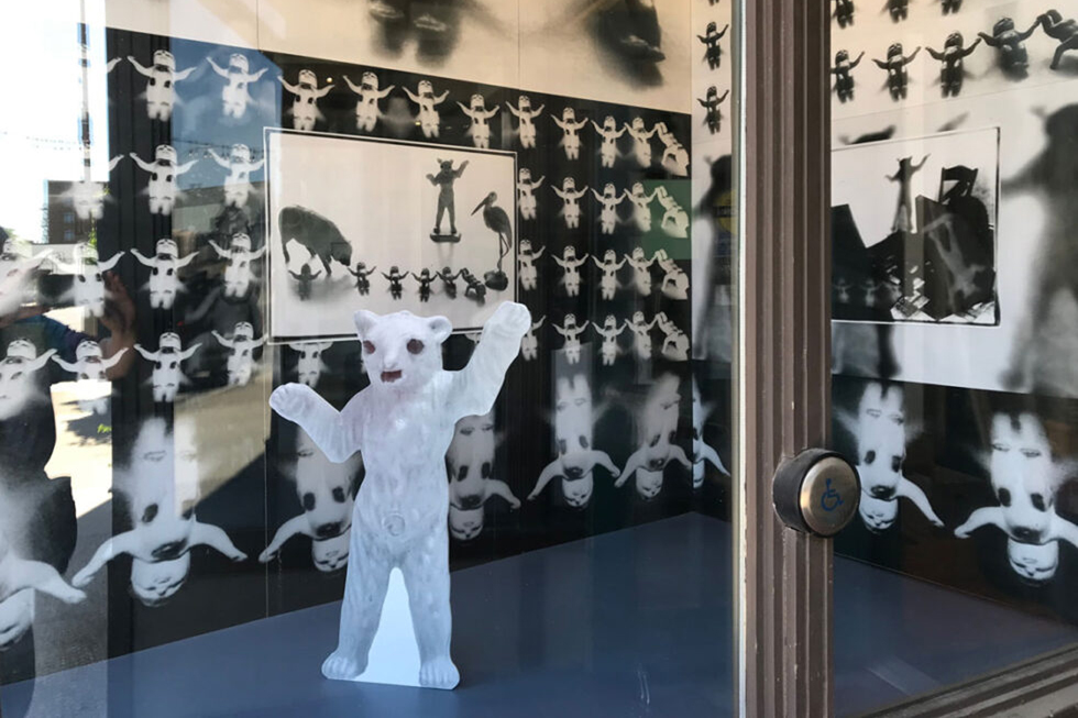 Detail from Weird Baby World installation by Gabrielle de Montmollin